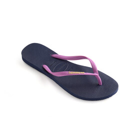 havaianas Slim Logo Teenslippers Dames, navy/ice pink